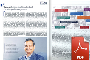 Velocis KM Plus Solution featured in CIOAPAC Outlook Magazine in the IBM Solution Special Edition